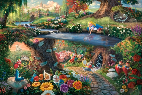 00-Thomas-Kinkade-Walt-Disney-Stories-Seen-Through-Paintings-www-designstack-co