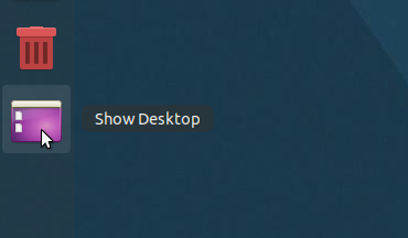 Show Desktop icon Gnome Shell Ubuntu Dock