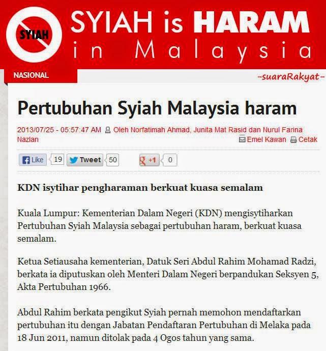 Image result for Portal Majlis Fatwa Malaysia berkenaan Syiah
