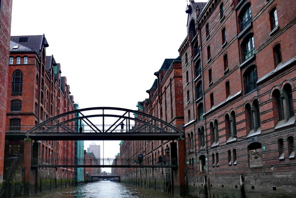 Speicherstadt, Hamburg, Lagerhäuser, Brücke, Kanal, Speicher, alt