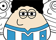 Pou Maradona Coloring juego