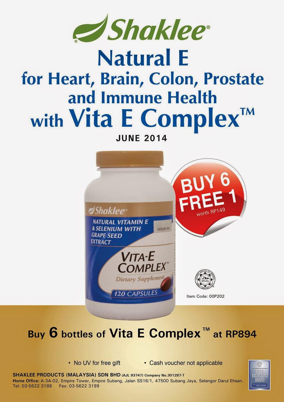 vitamin E Shaklee promosi
