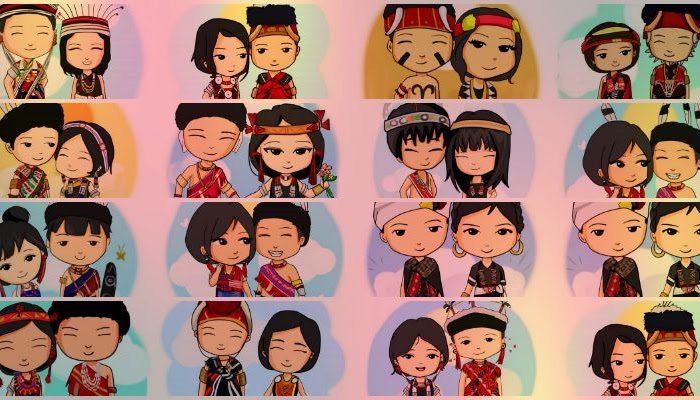 These cute cartoons of different Naga couples will make you fall in love with Nagaland once more