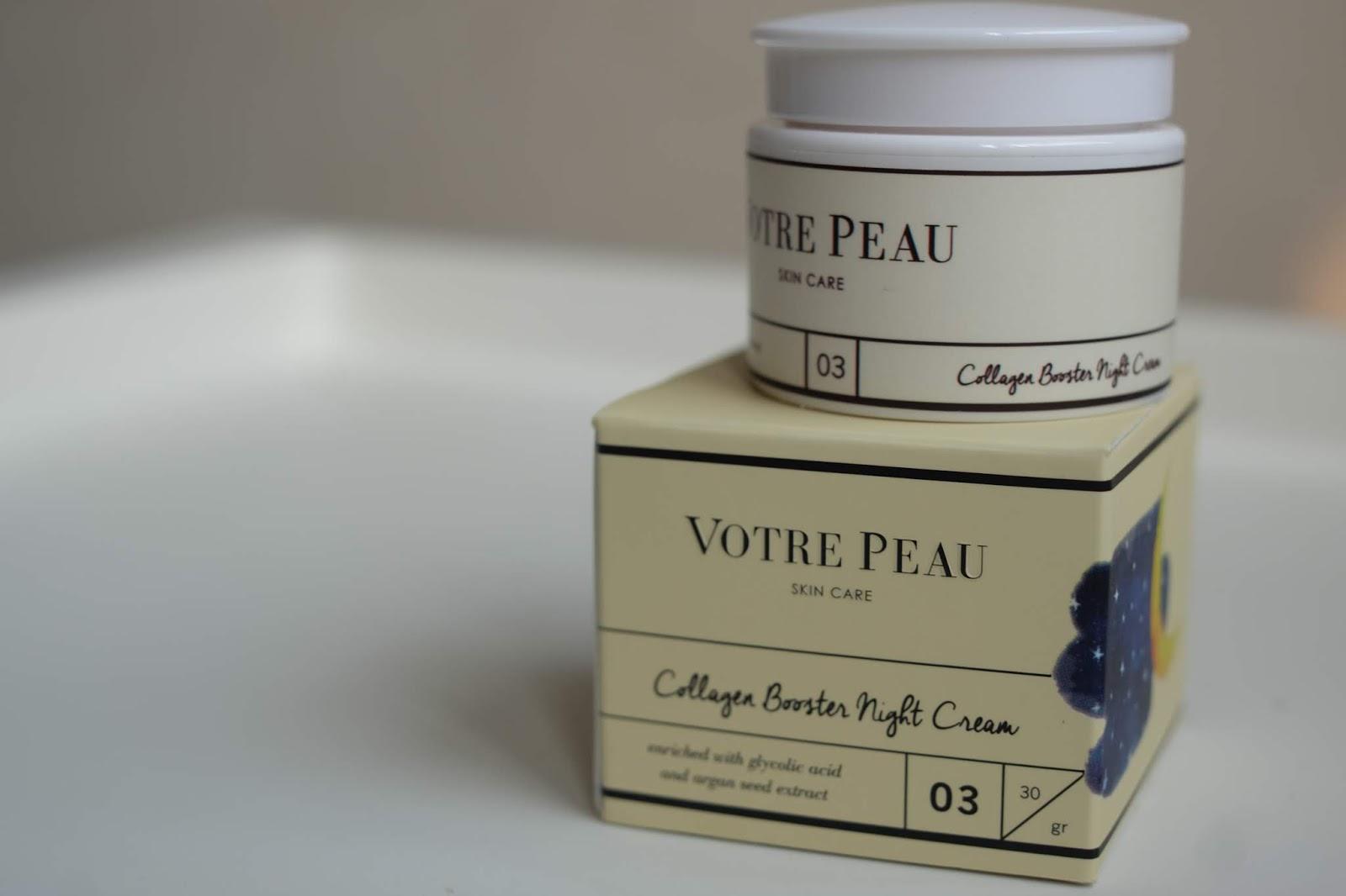 Votre Peau Skincare Collagen Booster Night Cream Spec Dan Daftar Facial Sun Shield Spf 50 30ml Review
