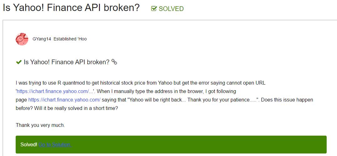 股海貓頭鷹: 資料源- Yahoo Finance API 終止服務大災難事件紀實