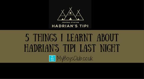 5 things I learnt about Hadrian's Tipi last night (REVIEW)