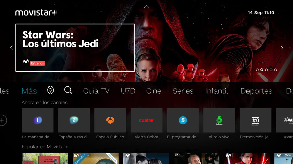 Movistar nueva interfaz de televisión