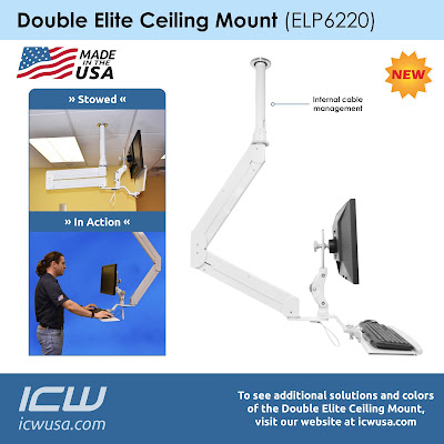 ICW's newest innovation has officially launched to improve your ergonomics and workfield- The Double Elite Ceiling Mount