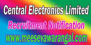 CEL (Central Electronics Limited) Recruitment Notification 2016 celindia.co.in