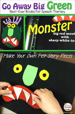 Go Away Big Green Monster: Best-Ever Books For Halloween Speech Therapy www.speechsproutstherapy.com