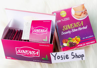 Paket Pelangsing dan Pemutih Badan - Sinensa BSH (Beauty Slim Herbal) + Sinensa Teh Green Tea Herbal