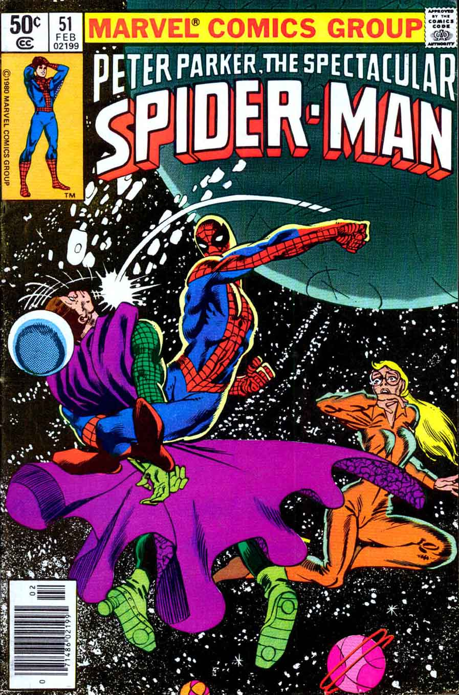 Spectacular Spider-man v2 #51 marvel 1980s comic book cover art by Frank Miller