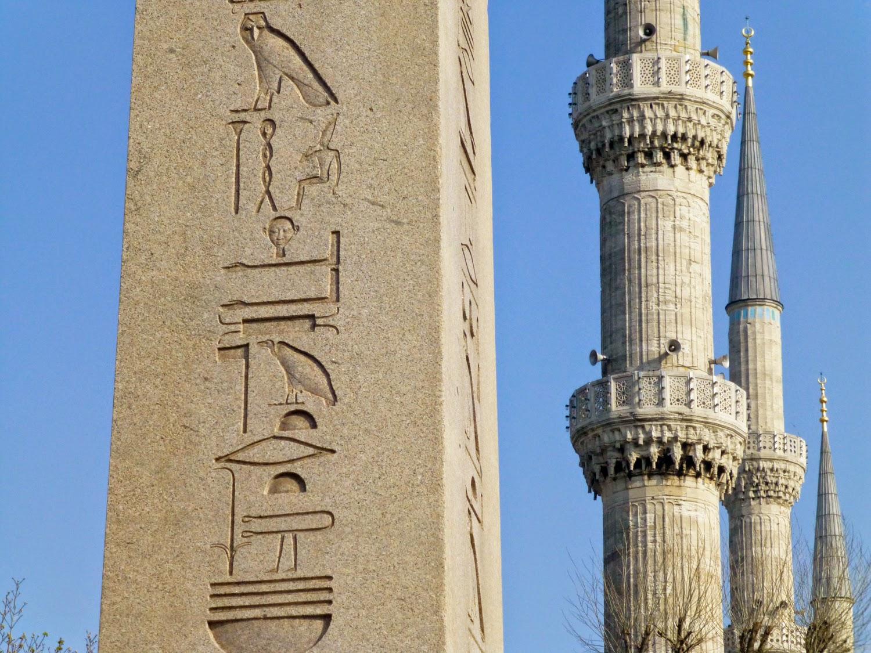 Obelisco de Teodosio y Minaretes de la Mezquita Azul
