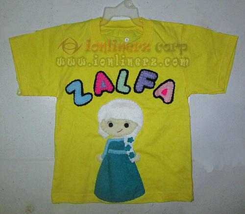 Kaos / Baju Flanel Anak Karakter Kartun Elsa Frozen