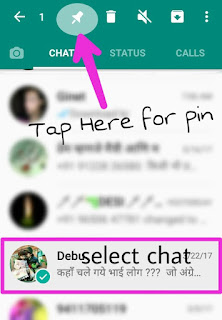 how to pin any chat on WhatsApp