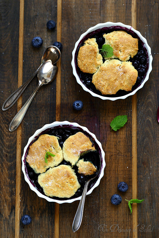 Cobbler aux myrtilles (recette)