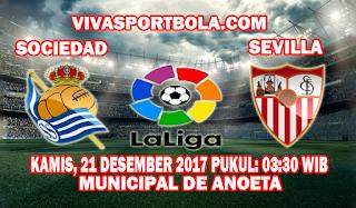 Prediksi Real Sociedad vs Sevilla 21 Desember 2017