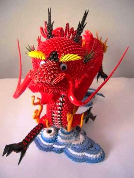 3D Origami Ultimate Dragon : 11 Steps (with Pictures) - Instructables | 600x450