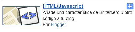 Widget de redes sociales para blogger