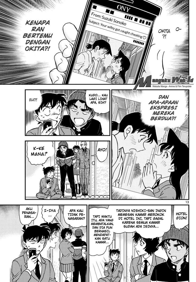 Detective Conan Chapter 1003 : Jejak Coklat Kemerahan
