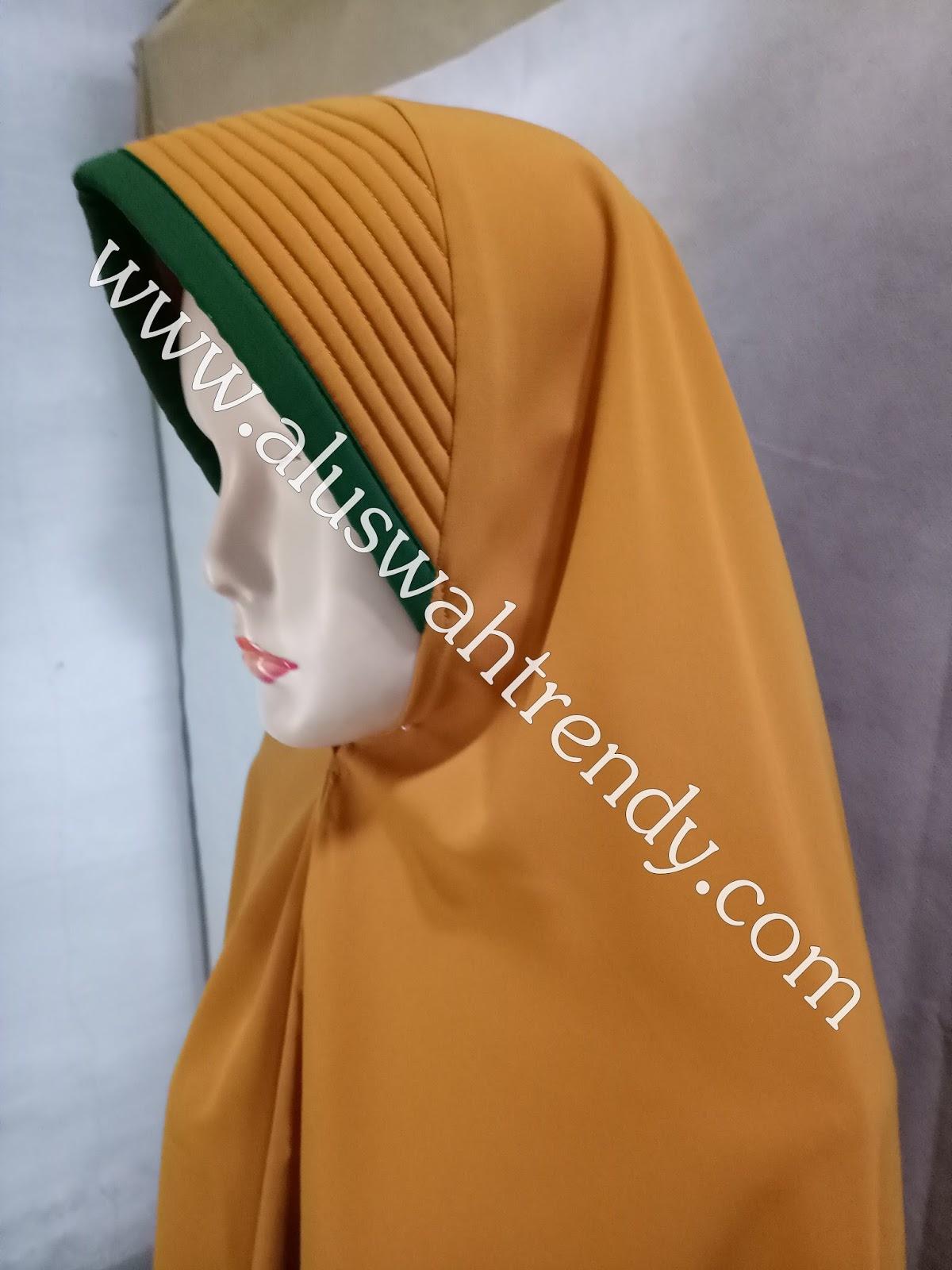 Jilbab Khimar Instan Warna Kuning Kunyit 31 Toko Busana Muslim Dan