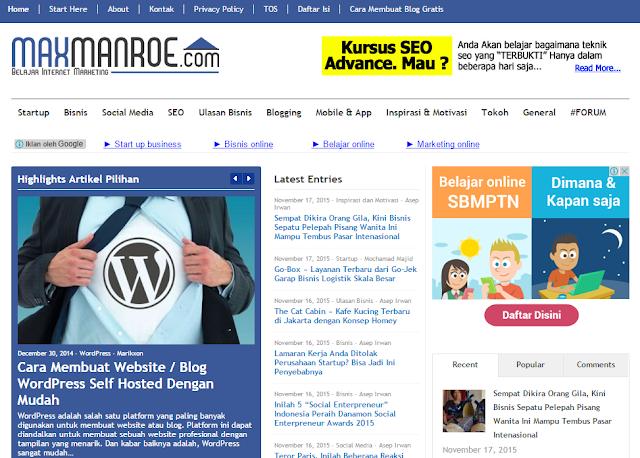 Benarkah Blog Indonesia Ini Berpenghasilan Rp 50 Juta / Bulan??