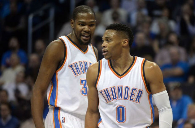 Kevin Durant et Russell Westbrook, les deux extraterrestres de l'Oklahoma City Thunder (NBA)