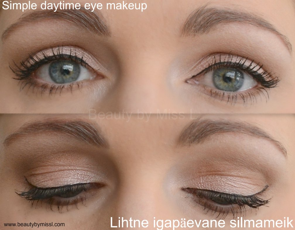 simple dayitme eye makeup via @beautybymissl
