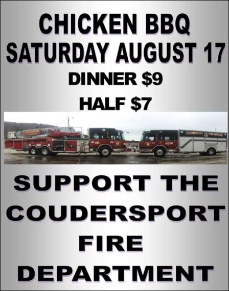 8-17 Chicken BBQ, Coudersport VFD