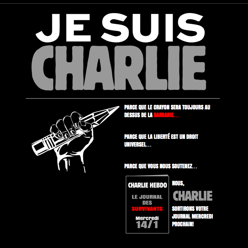 Charlie Hebdo web page