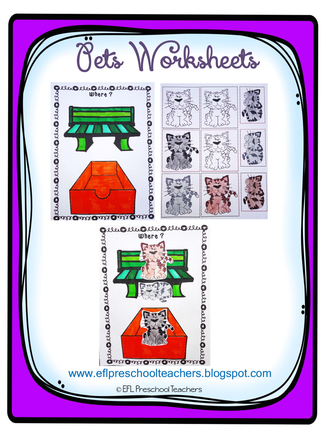 Esl Efl Preschool Teachers Pet Activities For Preschool Ell