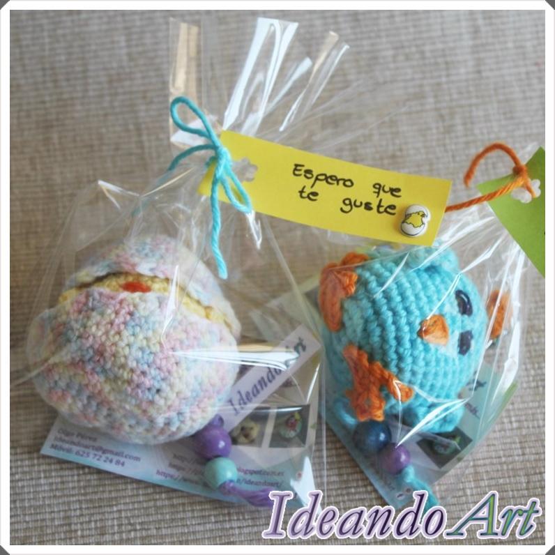 Pollitos amigurumi de crochet