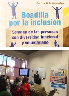 Borja Montoto durante su ponencia sobre RSC, dentro de la Semana por la Integración de Boadilla del Monte