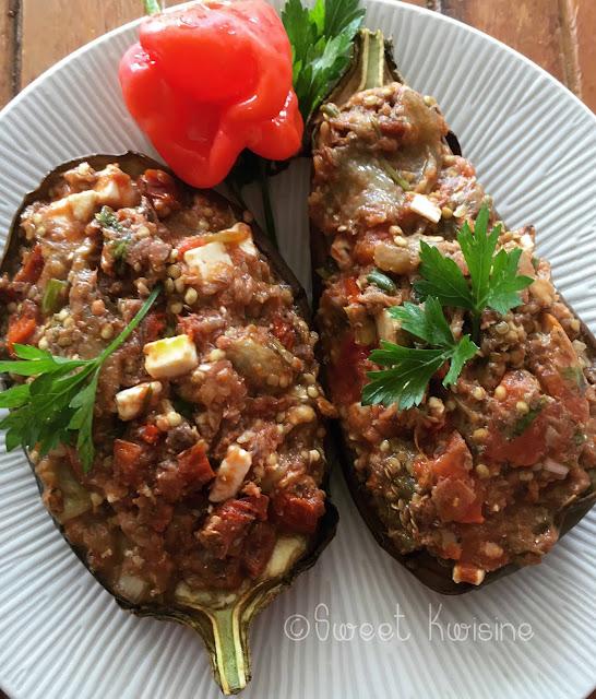 sweet kwisine, aubergine, régime sans cholestérol, sardines, tomates, féta, eggplant, healthyfood, homemade, foodblogger, recette facile