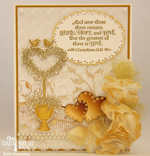 Our Daily Bread Designs Stamp Set: Happy Wedding Day, Paper Collection: Wedding Wishes, Custom Dies: Ornate Ovals, Heart Topiary, Roses, Rose Leaves
