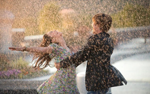 Dancing in Rain  IMAGES, GIF, ANIMATED GIF, WALLPAPER, STICKER FOR WHATSAPP & FACEBOOK