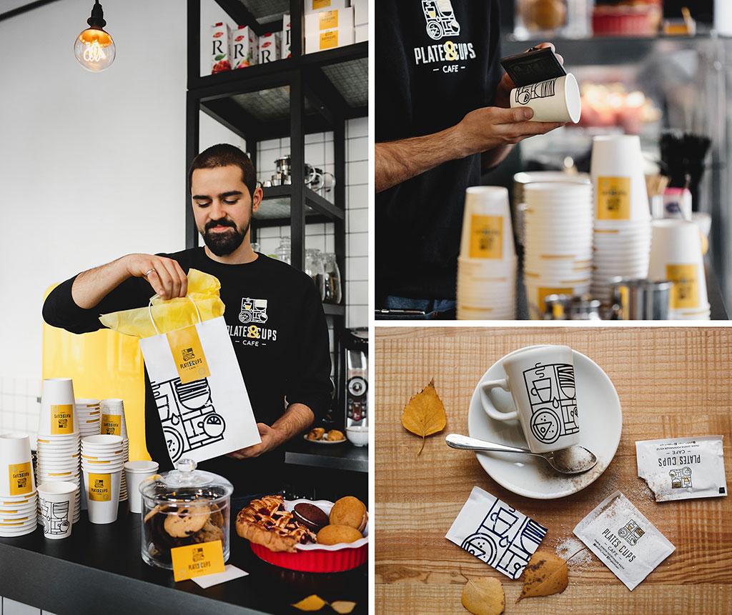 Inspirasi Desain Kemasan Packaging - Plates Cups Cafe
