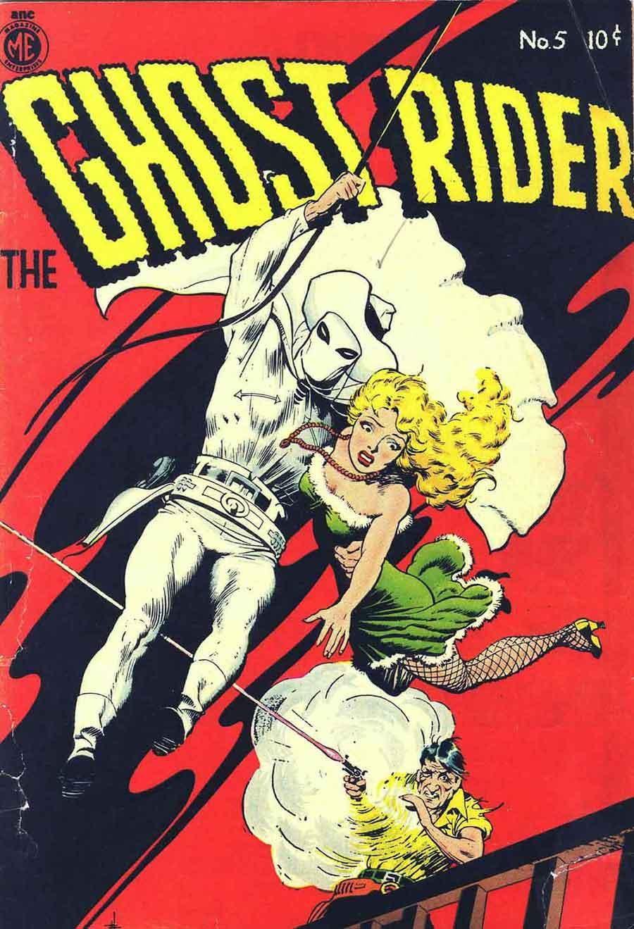 Ghost Rider v1 #5 comic book cover art by Frank Frazetta