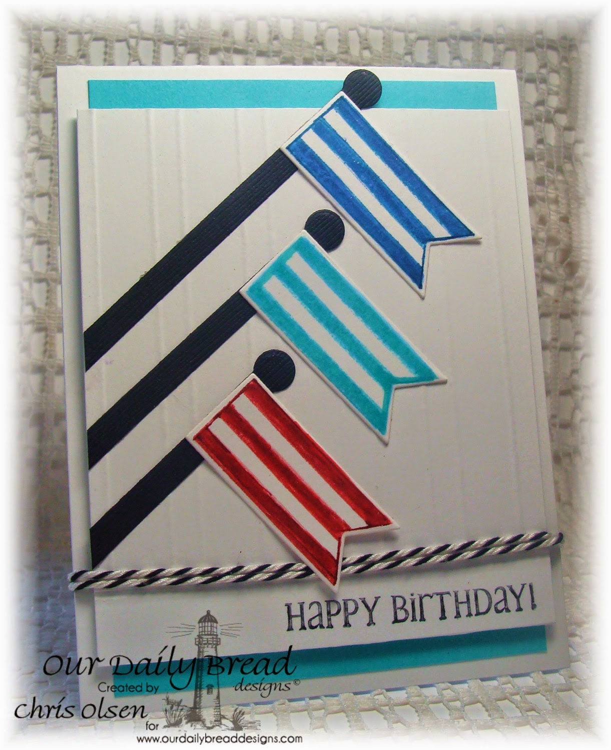 Our Daily Bread Designs, Patriotic Pennants, Little Boys, Pennants dies, designer-Chris Olsen
