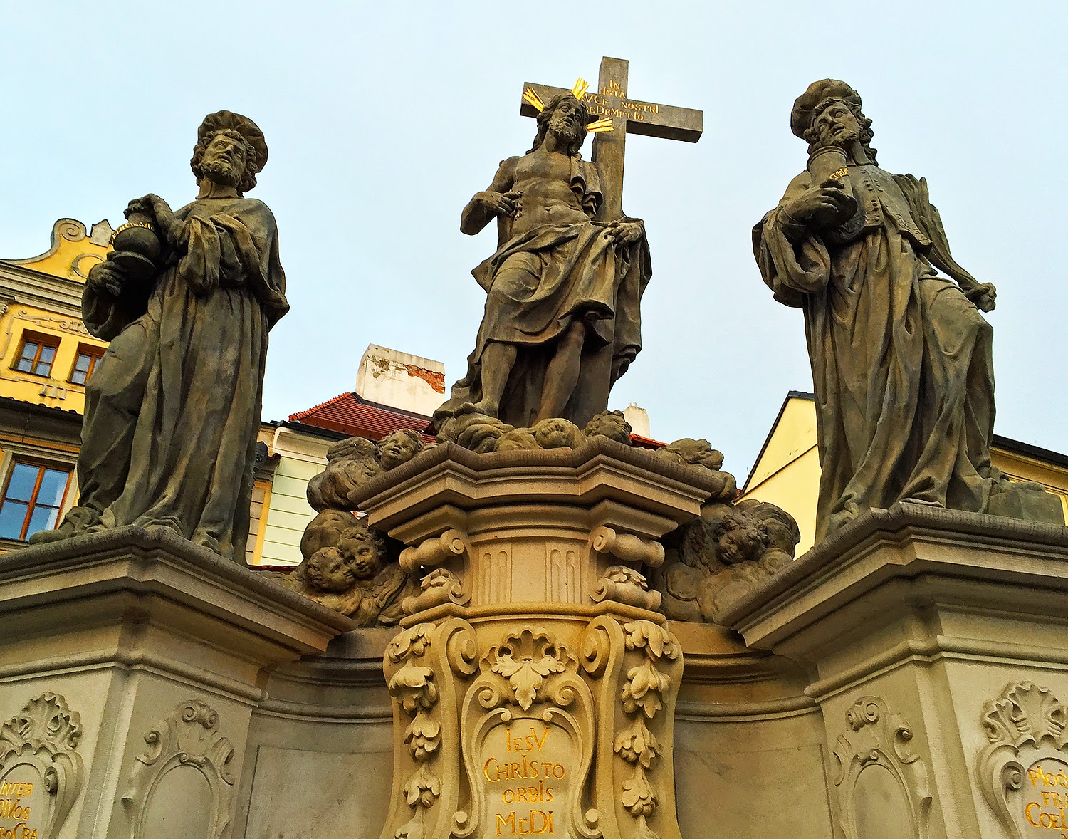Baroque statues along charles bridge