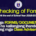 Forms and Documents to be Checked