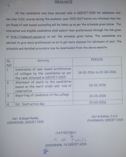 Press Note ts deecet web counselling