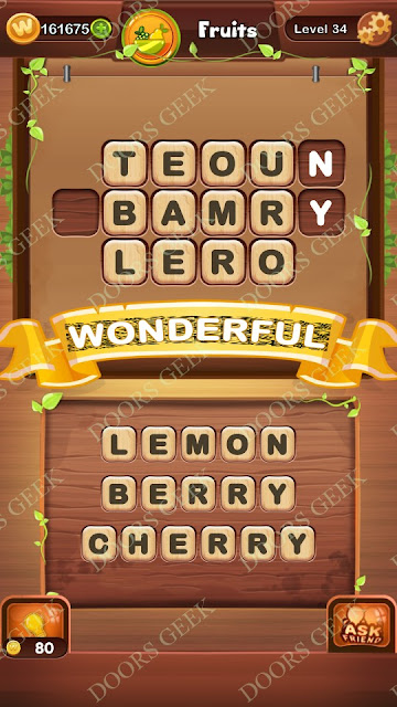 Word Bright Level 34 Answers, Cheats, Solutions, Walkthrough for android, iphone, ipad and ipod