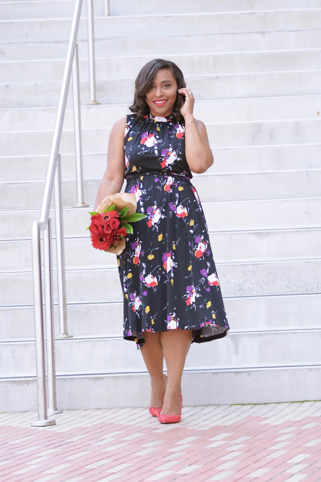 Leota dress, New York, floral dress, wrinkle free fabric, twril, wrap dress, shift dress, dc blogger, dominican blogger, fall dresses, leota, versatile dress, The Versatile Dress Your Wardrobe Is Missing