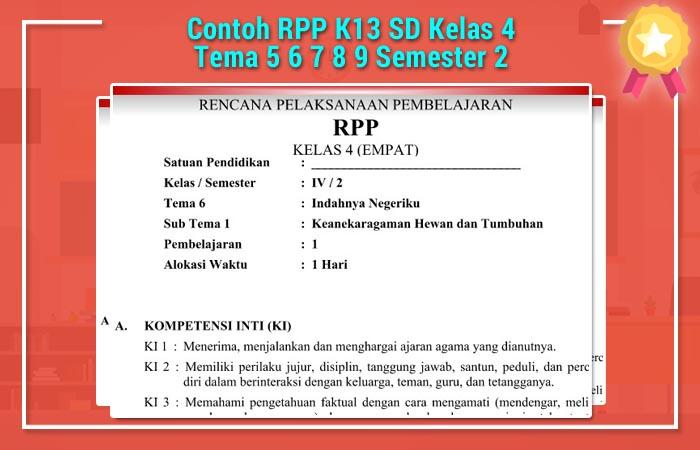 RPP K13 SD Kelas 4 Semester 2
