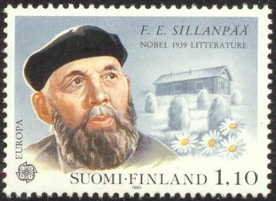 Sillanpää postimerkki 1980 Suomi