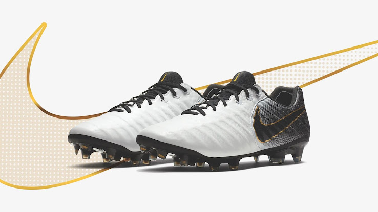 best sneakers 3bee2 005da Classy White / Black / Gold Nike Tiempo 2018 Boots Released ...