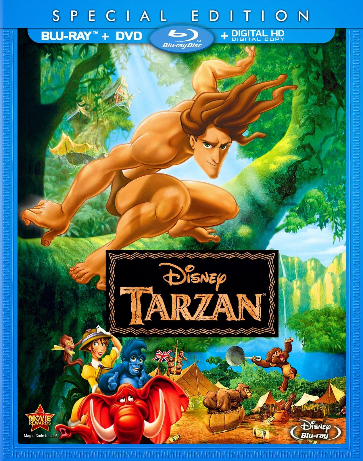 NIXPIX DVD BLURAY Reviews TARZAN Bluray Walt