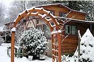 Walker Creek house in snow