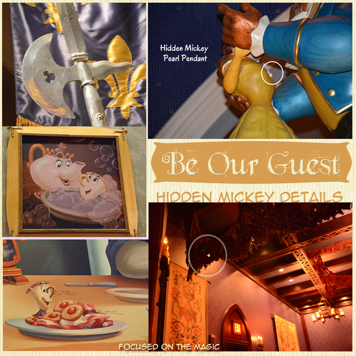 Walt Disney World Hidden Mickeys  Be Our Guest Restaurant